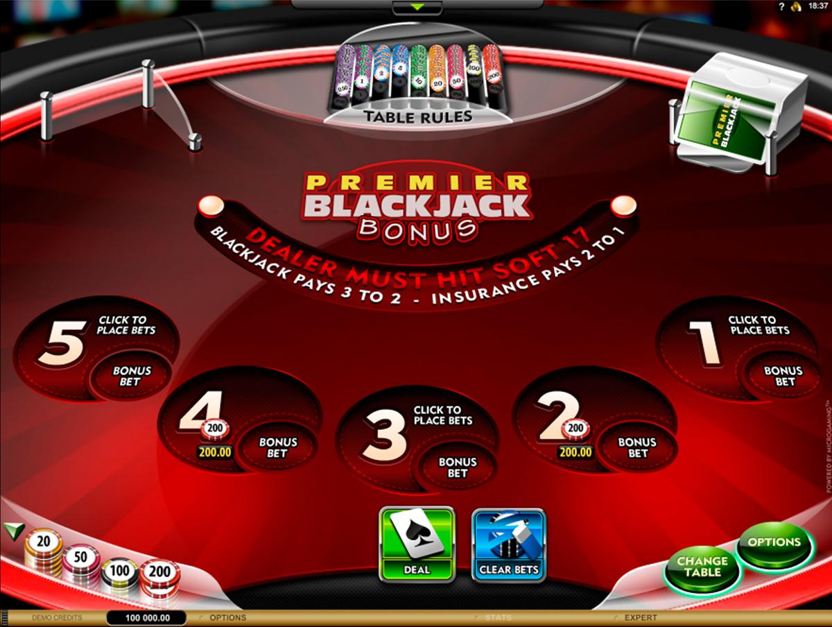 premier blackjack multihand euro bonus gold microgaming