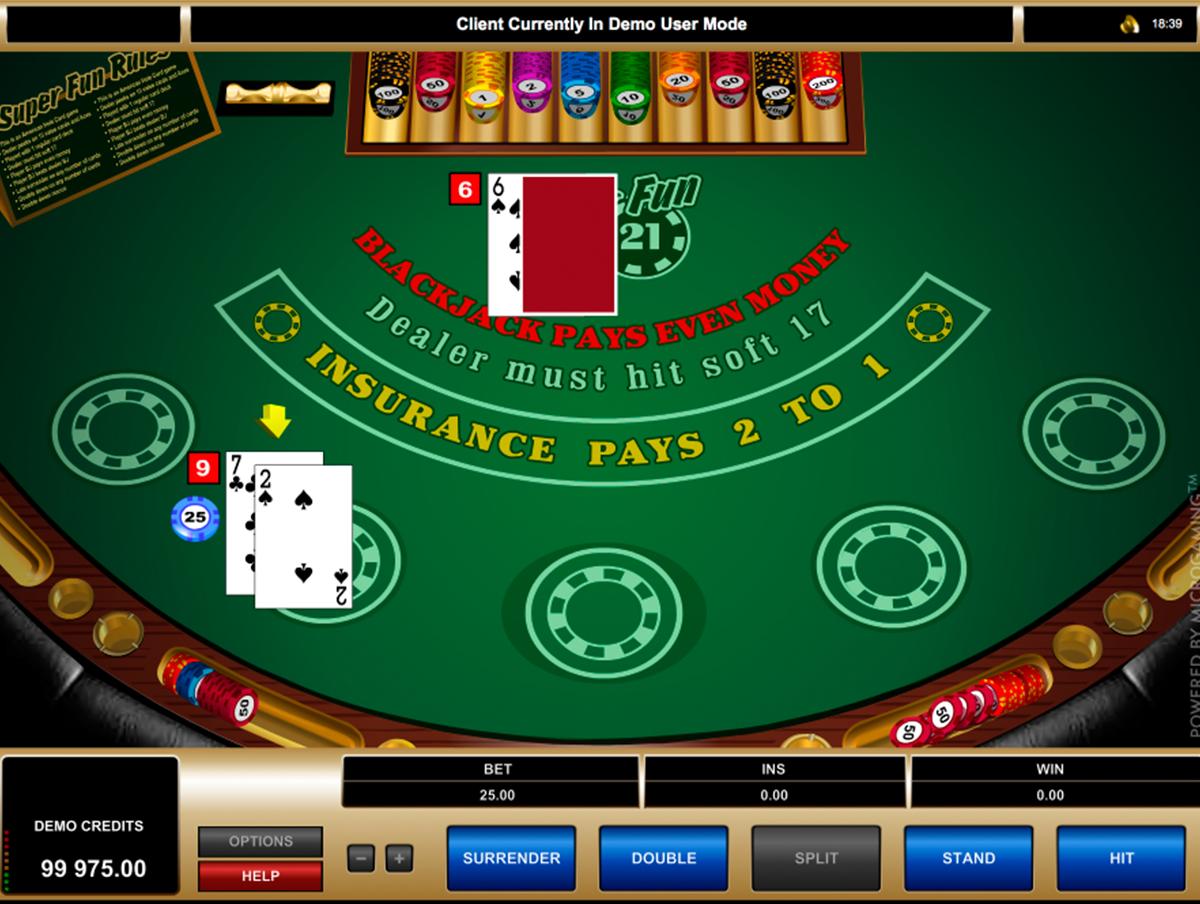 super fun 21 blackjack microgaming